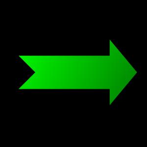 Zelená šipka ukazujúca do prava